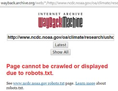 NOAA NCDC blocks archive.org